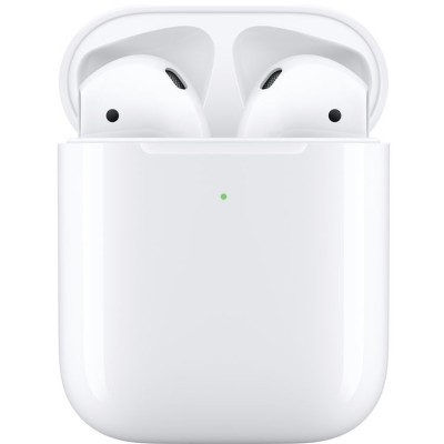 Apple Airpods MRXJ2 with Wireless Charging Case - White (Airpods 2)