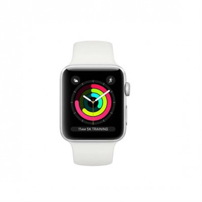 Apple Watch Series 3 MTEY2 (MQKU2) - 38mm Silver Aluminium Case with White Sport Band