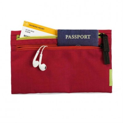Crumpler Zippie Travel Pouch - Deep Red/ Yellow