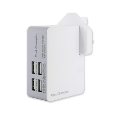 First Champion USB Travel Charger UTC405 5.4Amps/27W (4USB ports)