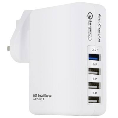 First Champion USB Travel Charger UTC408QC with Quick Charge 2.0