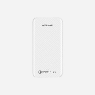 Momax IP65 iPower Minial PD Quick Charge PowerBank 10000mAh - White