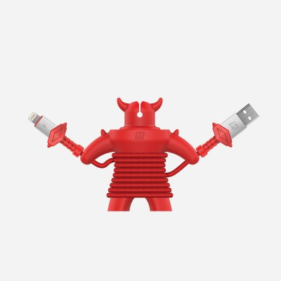 Momax Play Gaming Lightning to USB Cable - Red