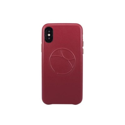OBX Embossed Logo Snap on Case for iPhone X 77-57648 - Raisin