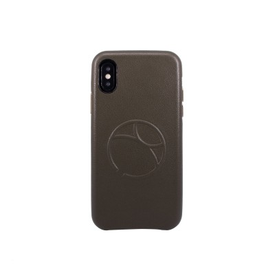 OBX Embossed Logo Snap on Case for iPhone X 77-57647 - Dark Green