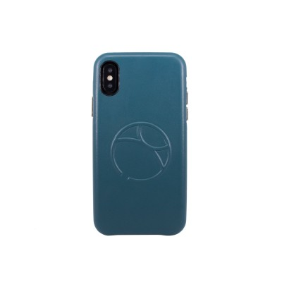 OBX Embossed Logo Snap on Case for iPhone X 77-58602 - Green Blue