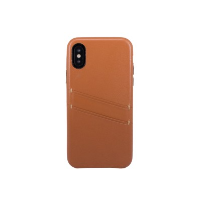 OBX Leather Card Slot Case for iPhone X 77-58609 - Brown