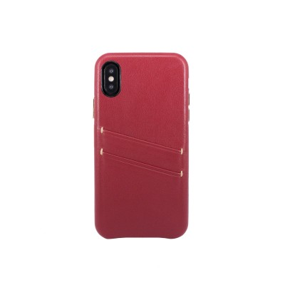OBX Leather Card Slot Case for iPhone X 77-58611 - Raisin