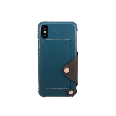 OBX Leather Pocket Case for iPhone X 77-58627 - Green Blue/Dark Green
