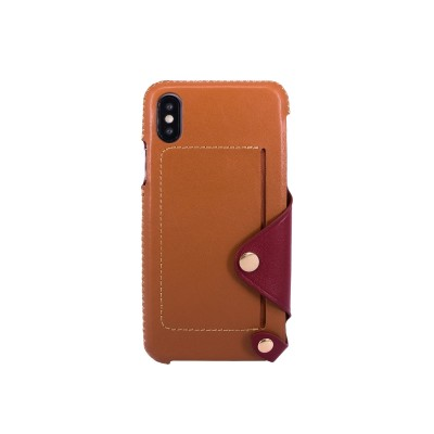 OBX Leather Pocket Case for iPhone X 77-58628 - Brown/Raisin