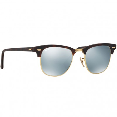 Ray-Ban Clubmaster Sunglasses RB3016 114530 Size 51 - Tortoise