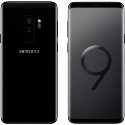 Samsung Galaxy S9 Plus G965FD Dual Sim 4G 64GB with 3D Curved Premium Tempered Glass Screen Protector (Full Adhesive & Black Edge)  - Midnight Black