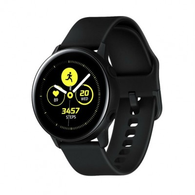 Samsung Galaxy Watch Active SM-R500 with Tempered Glass Screen Protector - Black