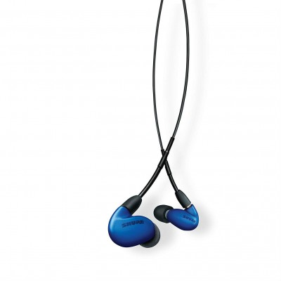 Shure SE846-BLU+BT1 Wireless Sound Isolating Earphones with Bluetooth Enabled Communication Cable - Blue