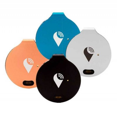 TrackR Bravo Bluetooth Tracking Device 4 Device Pack - Black Rose Gold Blue Silver