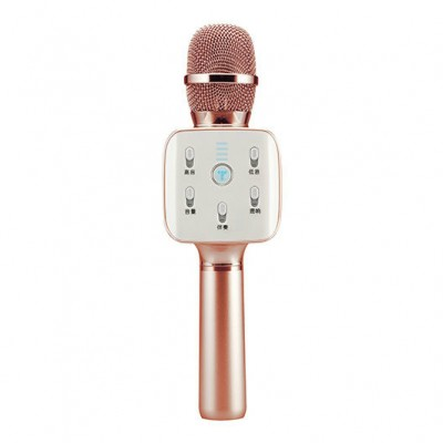 TUXUN (TOSING) Q7 Mini Portable Karaoke Microphone with Wireless Bluetooth Speaker for Smartphone - Rose Gold