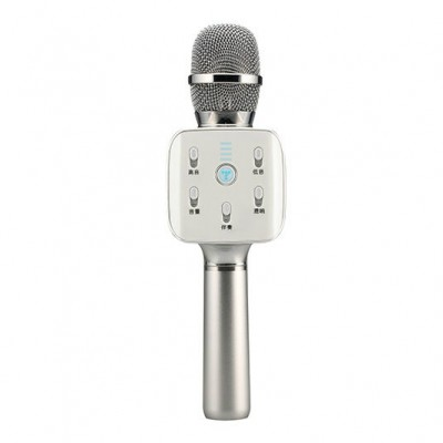 TUXUN (TOSING) Q7 Mini Portable Karaoke Microphone with Wireless Bluetooth Speaker for Smartphone - Silver